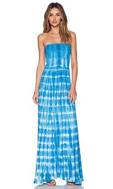 Young, Fabulous & Broke Lively Maxi Dress in Blue Ocean Ripples