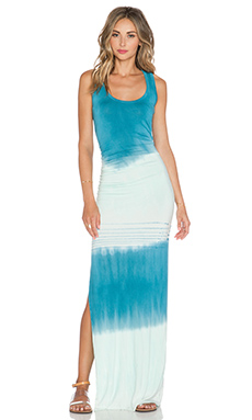 Young, Fabulous & Broke Maelle Maxi Dress in Teal & Sky Abstract