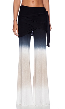 Young, Fabulous & Broke Marina Pant in Black & Tan Ombre