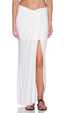 Young, Fabulous & Broke Kulani Maxi Skirt in Solid White