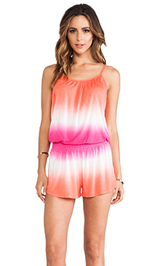 Young, Fabulous & Broke Bunnie Romper in Berry Ombre