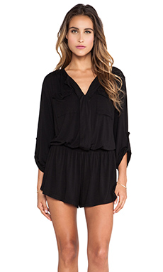 Young, Fabulous & Broke Malik Romper in Black