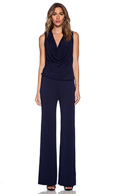 Young, Fabulous & Broke Lisle Jumpsuit in Solid Navy