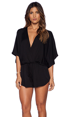 Young, Fabulous & Broke Maddie Romper in Solid Black