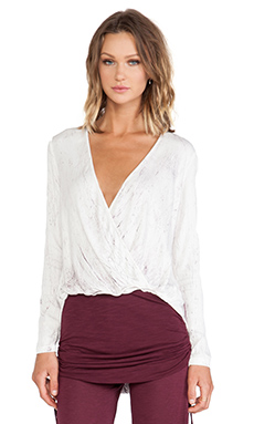 Young, Fabulous & Broke Foster Top in Wine Crackle Wash