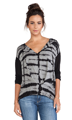 Young, Fabulous & Broke Julien Top in Black Zebra Wash