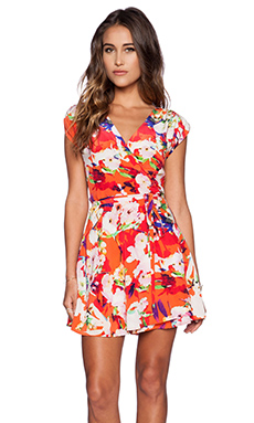 Yumi Kim Soho Mixer Dress in Vemillon Bloom