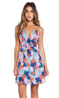 Yumi Kim Summer Getaway Dress in Floral Grid Print