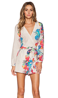 Yumi Kim Carly Romper in Ivory Electric Reef