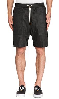 Zanerobe Gabe Leather Short in Black