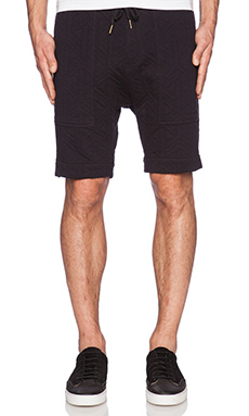 Zanerobe Gabe Short in Quilted Black