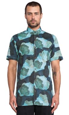 Zanerobe Reptilian Shirt in Aqua