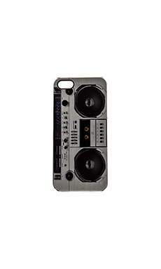 ZERO GRAVITY Boombox iPhone 5 Case in Grey & Black