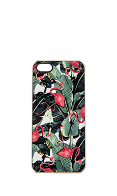 ZERO GRAVITY Bahama iPhone 5 Case in Green & Pink