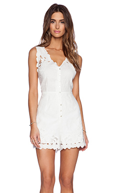 Zimmermann Trinity Scallop Playsuit in White