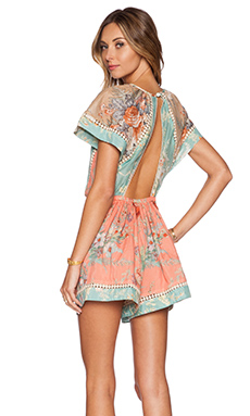Zimmermann Anais Antique Playsuit in Splice