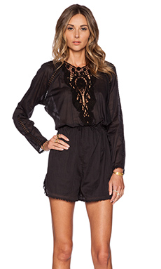 Zimmermann Nightmarch Motif Playsuit in Black