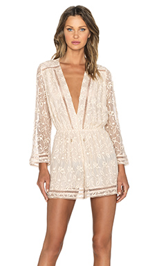 Zimmermann Nightmarch Vine Playsuit in Tan