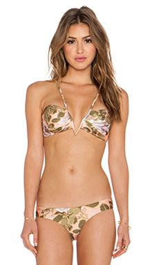 Zimmermann Admire V Tuck Bikini Top in Floral