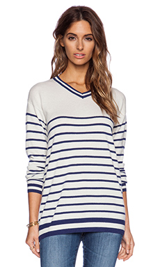 Zoe Karssen Stripes All Over Sweater in Blue Depth