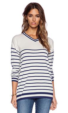 Zoe Karssen Stripes All Over Sweater in Blue Depth