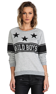 Zoe Karssen Wild Boys Sweatshirt in Grey Heather