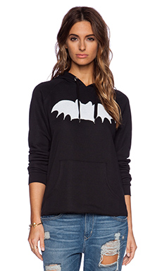Zoe Karssen Bat Hoodie in Pirate Black