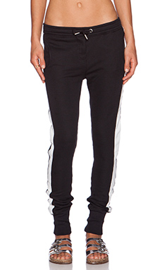 Zoe Karssen Slim Fit Sweatpants in Pirate Black