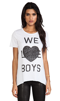 Zoe Karssen We Love Boys Tee in Off White