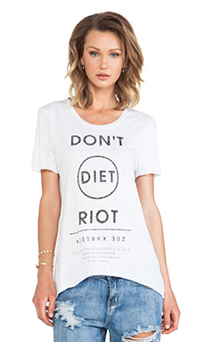 Zoe Karssen Don't Diet Riot tee in White