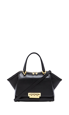 Zac Zac Posen Eartha Soft Double Handle Mini Satchel in Black