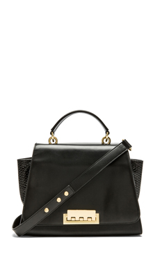 Zac Zac Posen Eartha Soft Top Handle Bag in Black