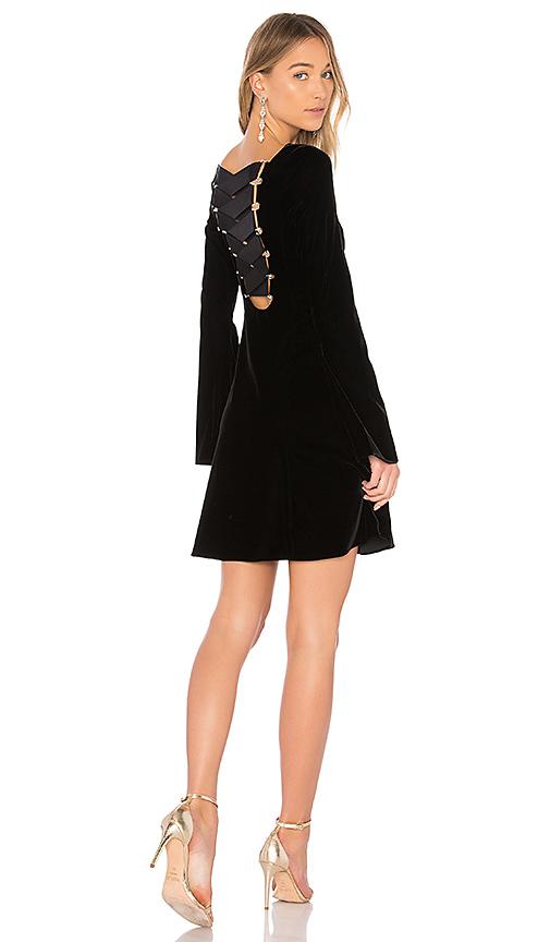 DEREK LAM 10 CROSBY Lace Up Dress in Black