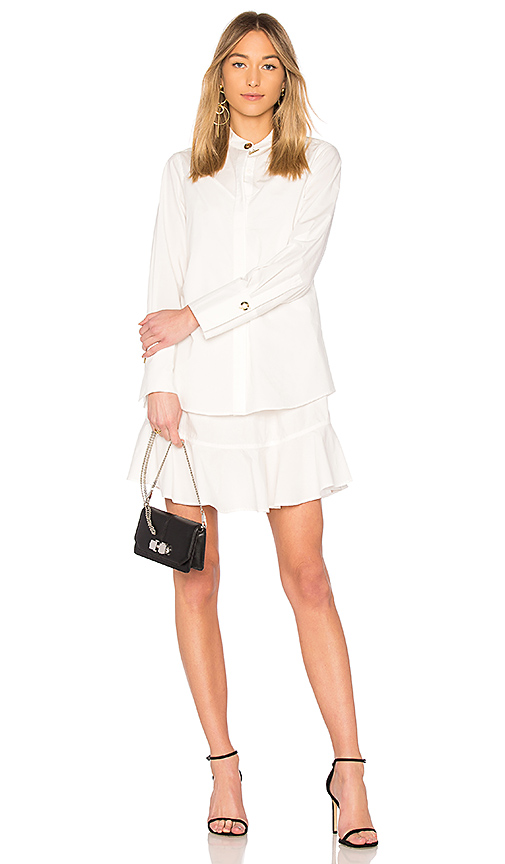 DEREK LAM 10 CROSBY Shirt Dress in White