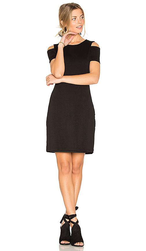 1 STATE Cold Shoulder Dress in Black