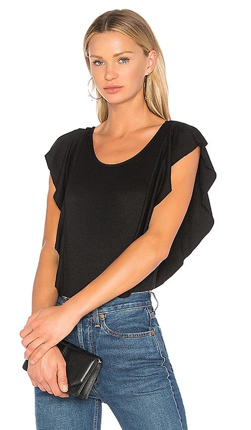 1. STATE Ruffle Edge Bodysuit in Black