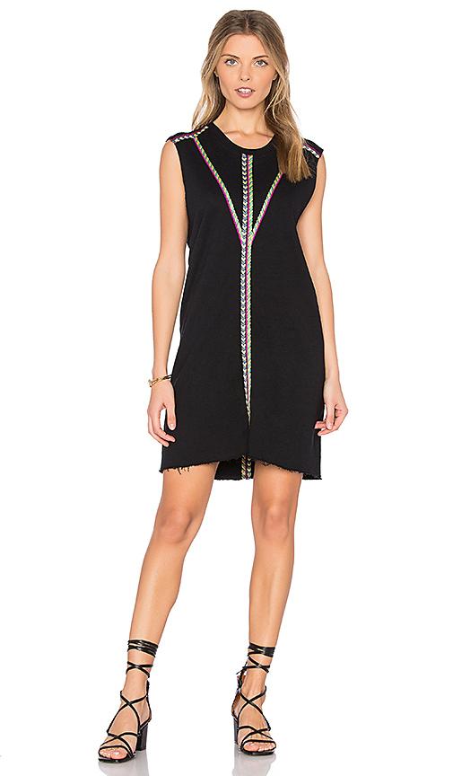 27 miles malibu Leora Embroidered Dress in Black. - size L (also in M,S,XS)