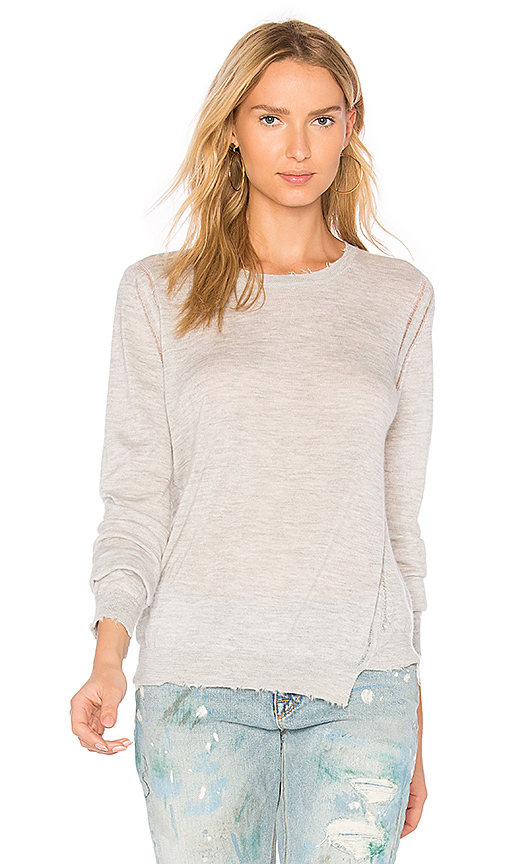 27 miles malibu Lucina Crew Neck Sweater in Gray. - size S (also in XS)