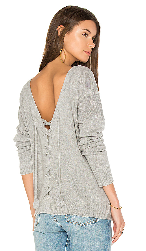 27 miles malibu Garnet Lace-Up Cardigan in Gray. - size M (also in S,XS)