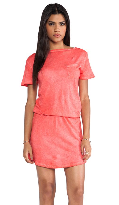 291 Short Cinched Dress in Orange