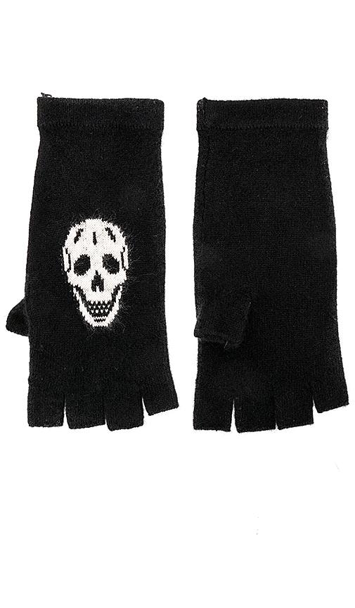 360CASHMERE Skull Gloves in Black.