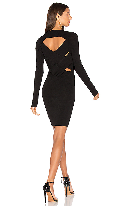360 Sweater Marie Sweater Dress in Black. - size L (also in M,XS)