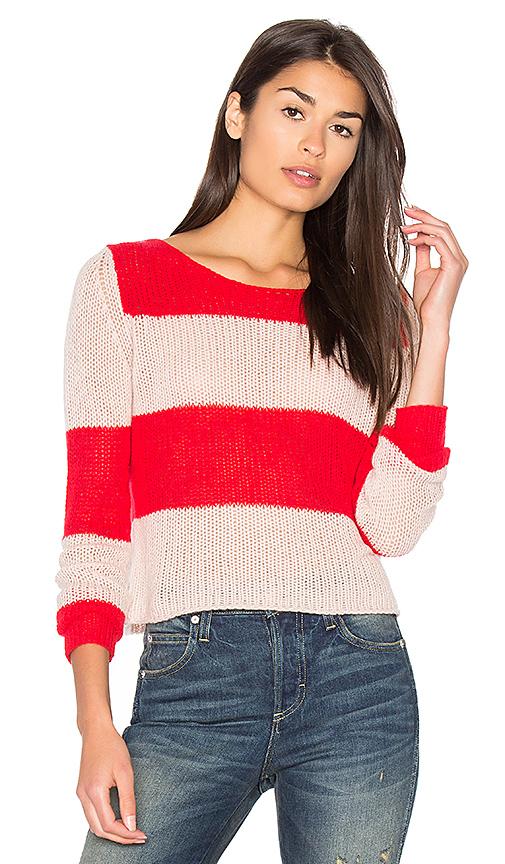 360 Sweater Remi Stripe Sweater in Red. - size L (also in M,S)