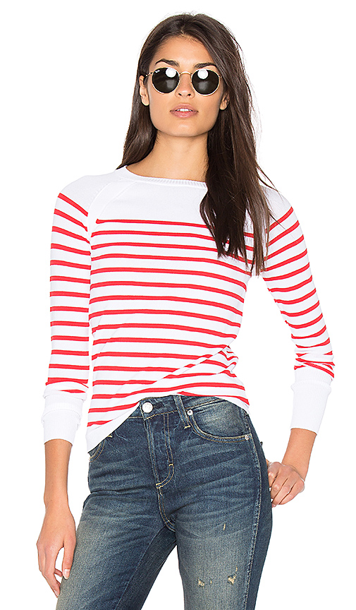 360 Sweater Mayan Stripe Sweater in Red. - size L (also in M)