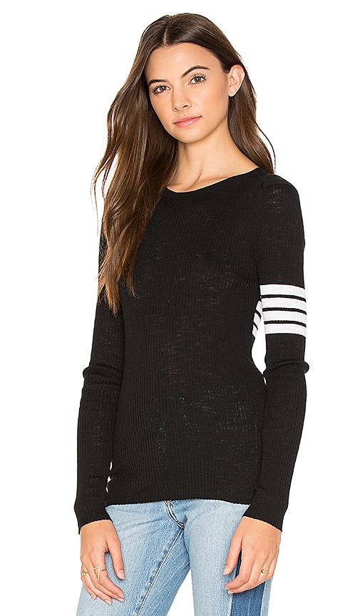 360 Sweater Aliz Stripe Band Sweater in Black. - size M (also in L,S,XS)