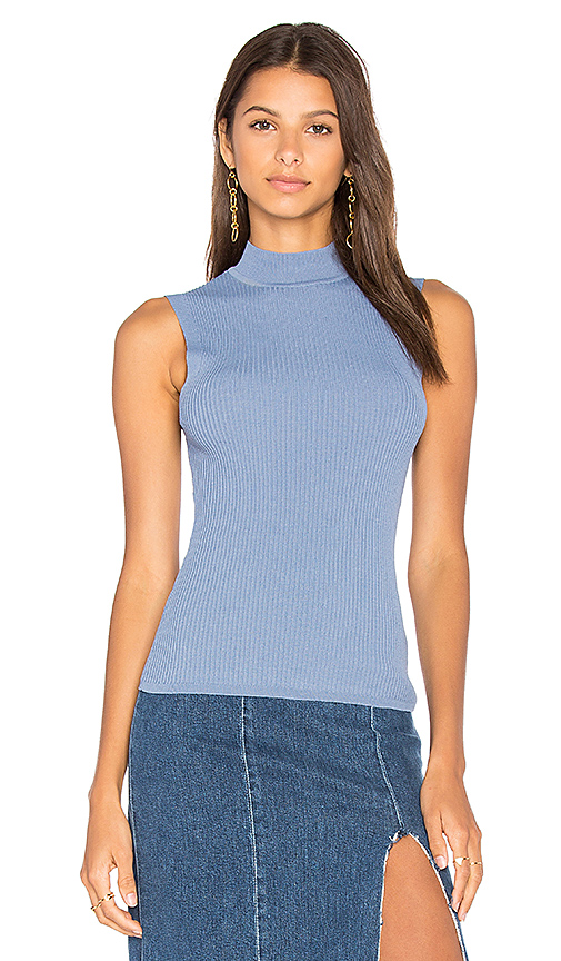 360 Sweater Georgia Sleeveless Sweater in Blue. - size L (also in M,S,XS)