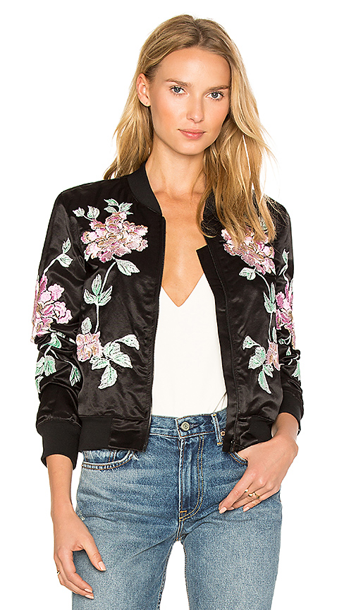 3x1 Floral Embroidered Jacket in Black. - size L (also in XS)