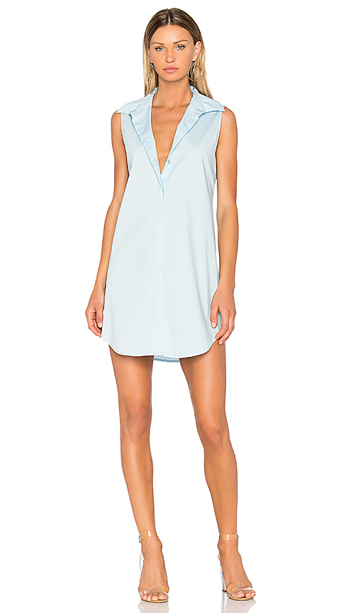 525 america Poplin Shirt Dress in Baby Blue