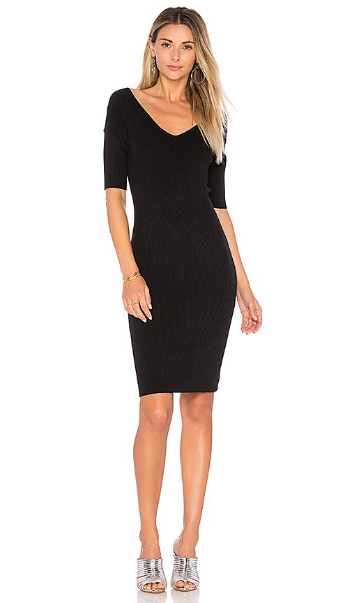525 america Portrait Wide V Dress in Black