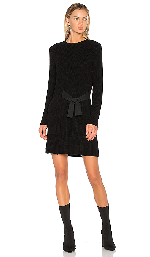 525 america Asymmetric Sweater Dress in Black